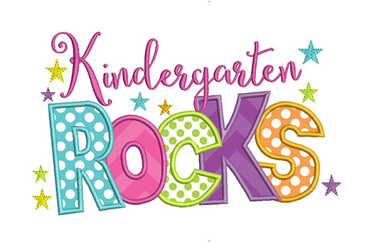 Kindergarten Rocks Clipart.