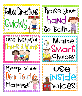 Inspired by Kindergarten: Rules Posters and a Lunch Packet that.