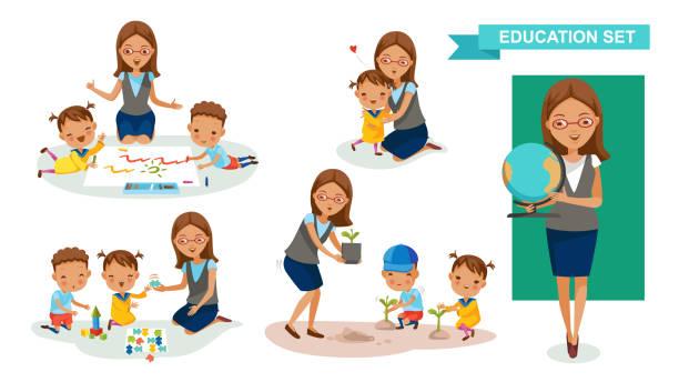 Top 60 Preschool Teacher Clip Art, Vector Graphics and Illustrations.
