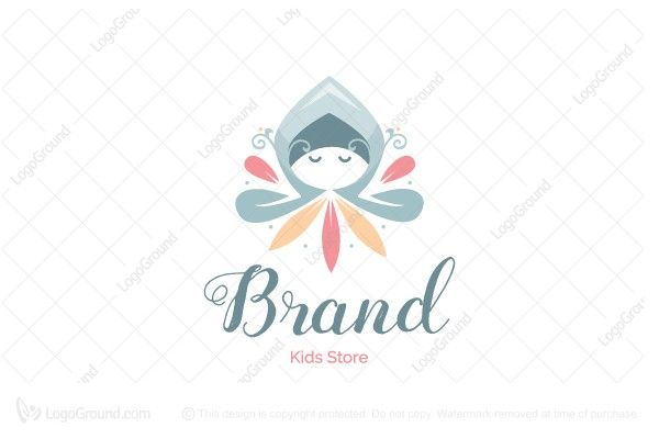 Exclusive Logo 82134, Flower Kid Logo.