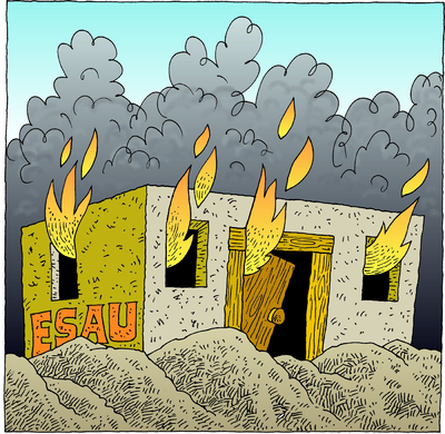 Image: The House of Jacob Shall be a Fire.