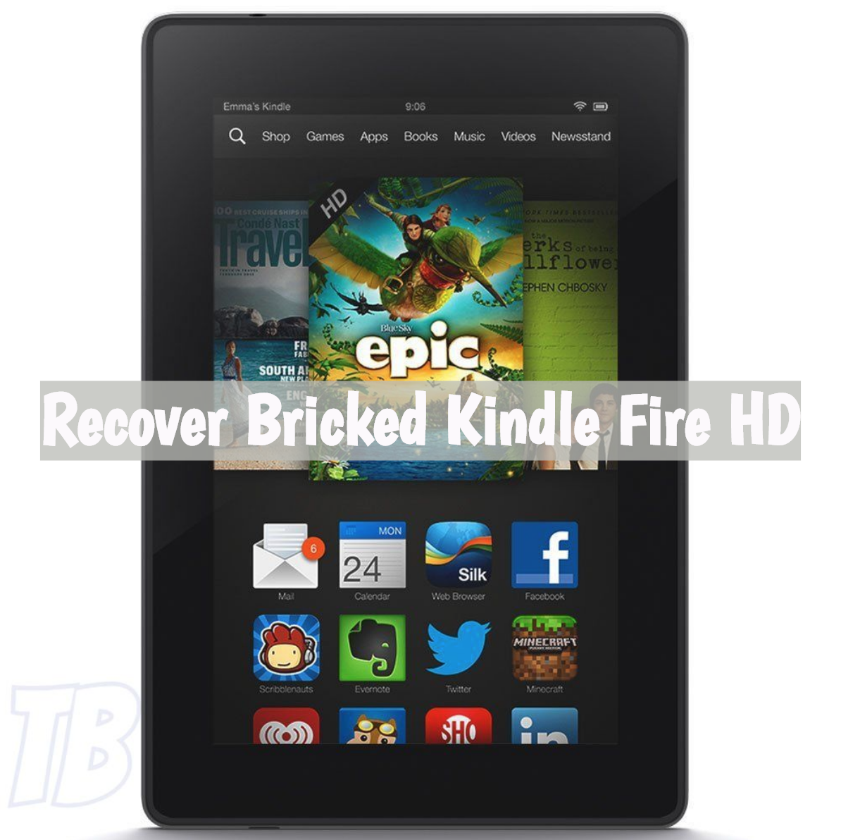 Recover Bricked Kindle Fire HD.