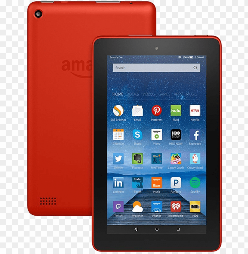 amazon kindle fire hd 8 2016 PNG image with transparent.