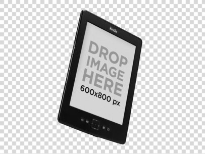 Angled Amazon Kindle Mockup Over a PNG Background a11812.