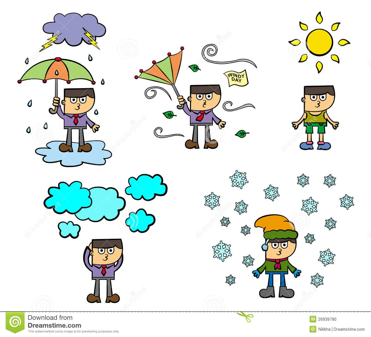 Kinds of weather clipart.