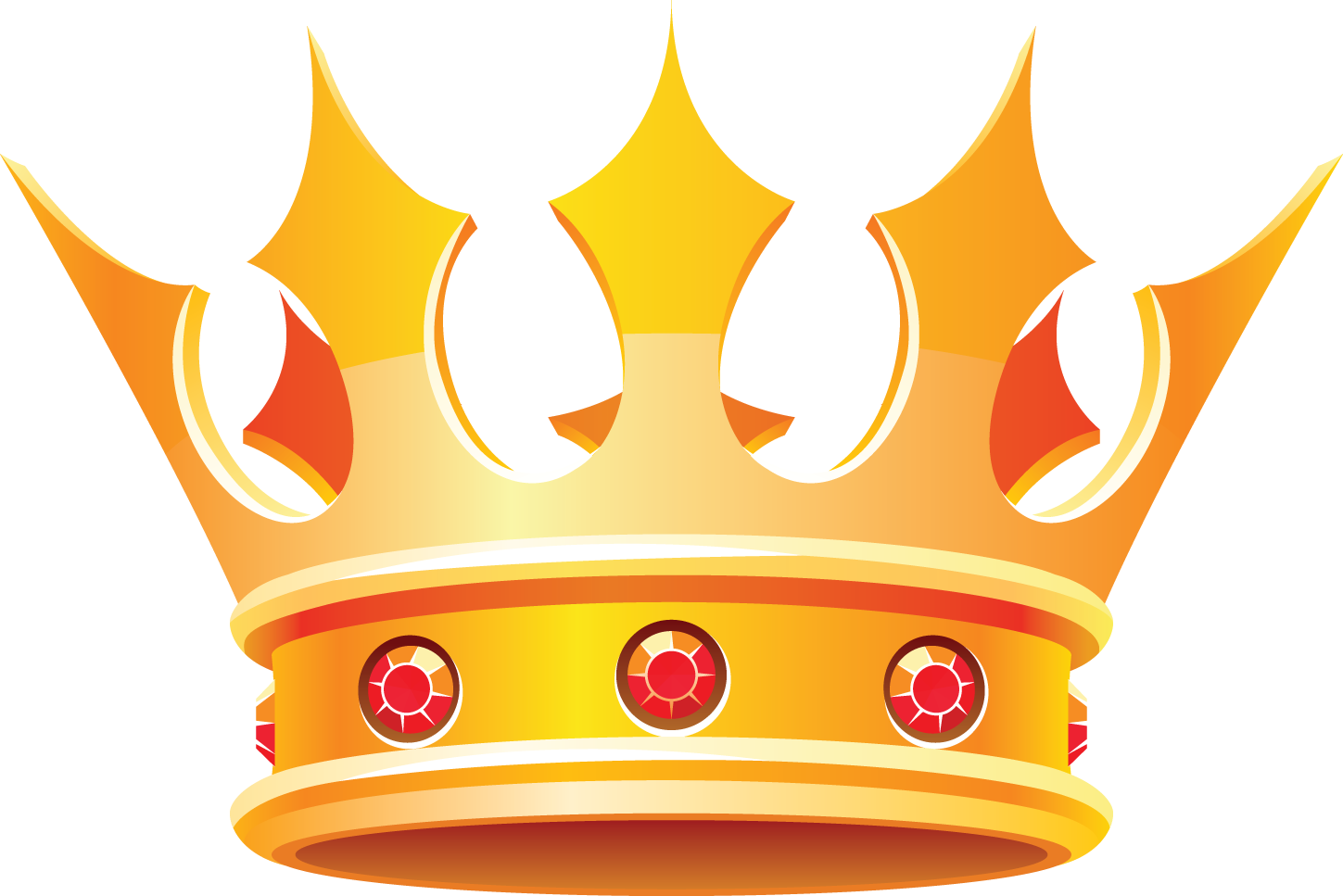 King Queen Crown Clip Art free image.