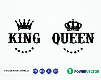King and queen svg.