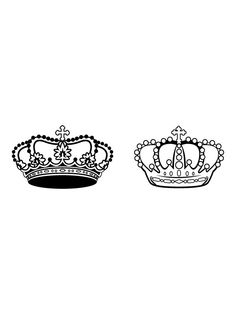 king and queen crowns together clipart #20