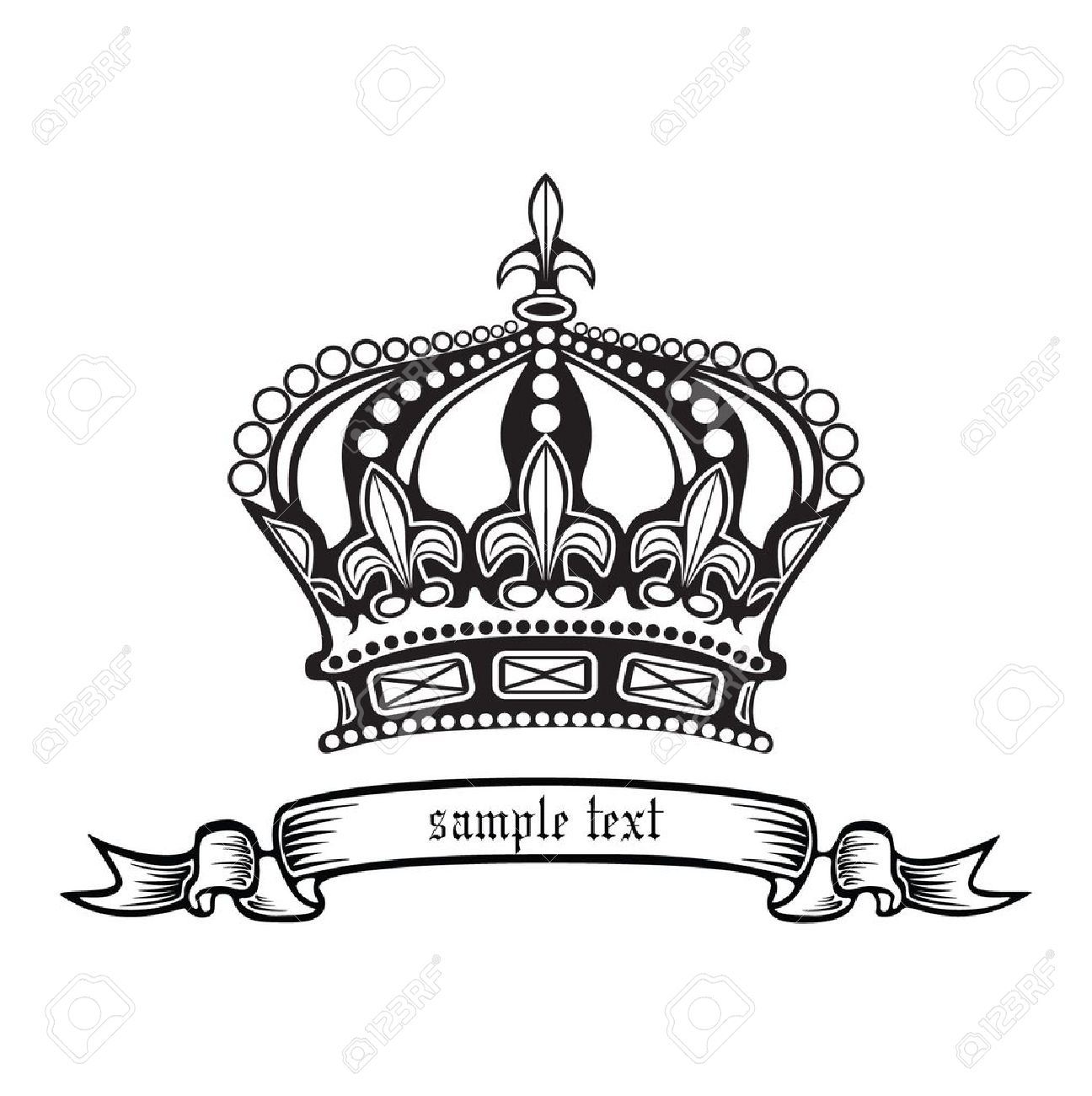 king and queen crowns together clipart #4