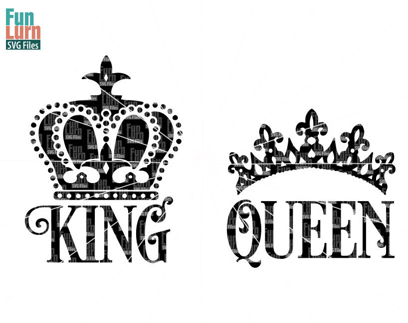 king and queen crowns together clipart #12