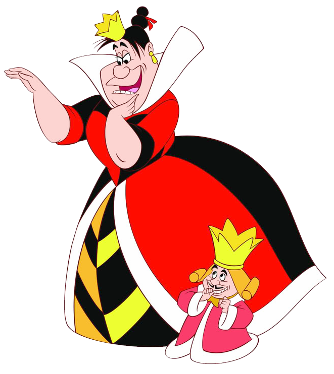 Queen & King of Hearts Clipart in 2019.