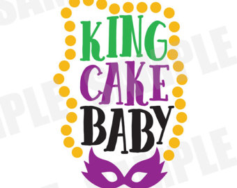 King Cake Baby Silhouette.