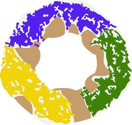King cake clipart 3 » Clipart Station.