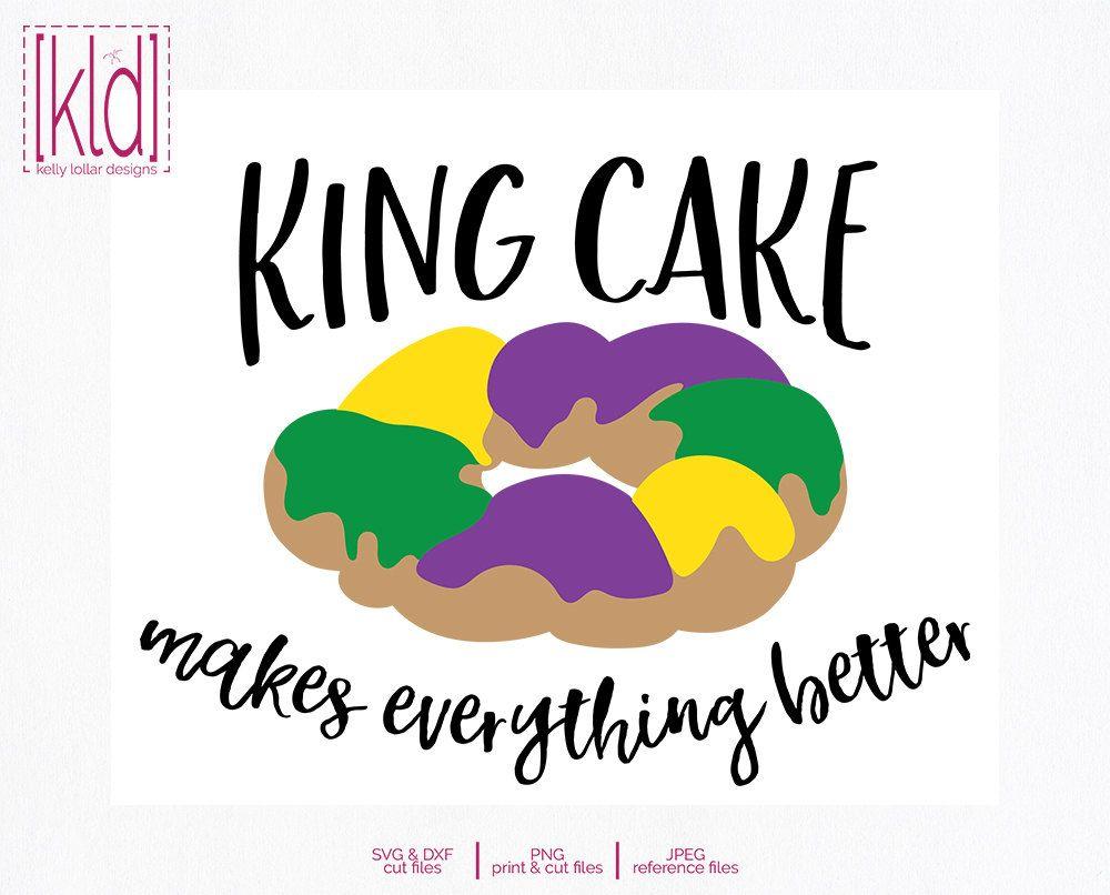 King Cake Silhouette.