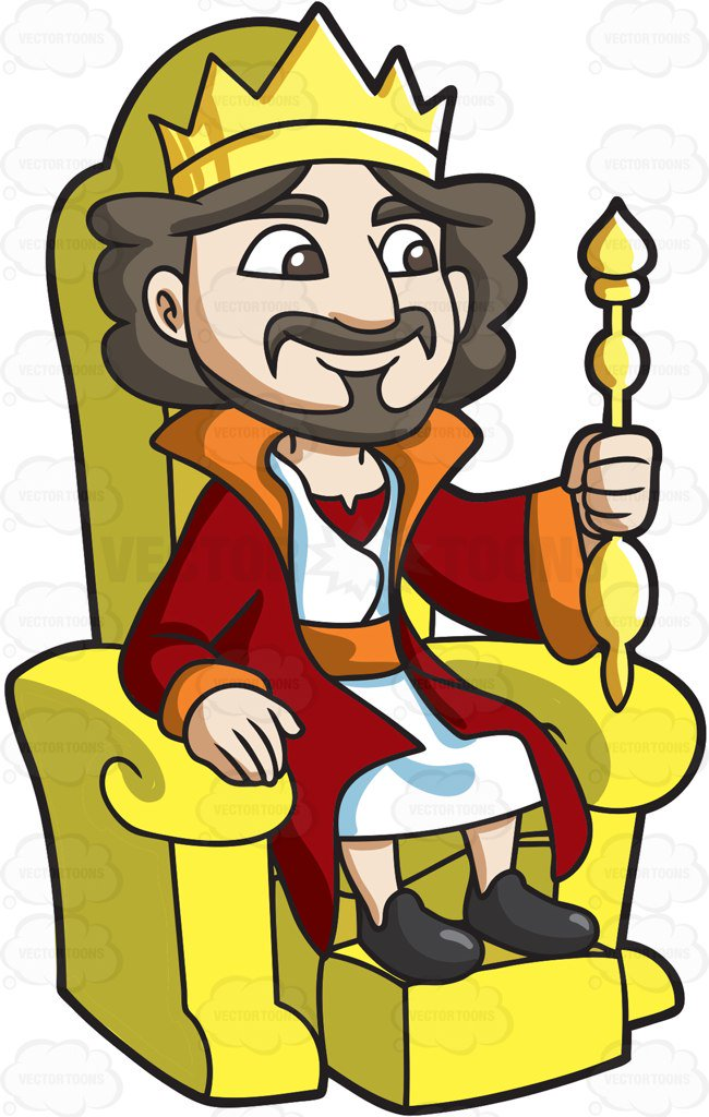 King In Throne Clipart.