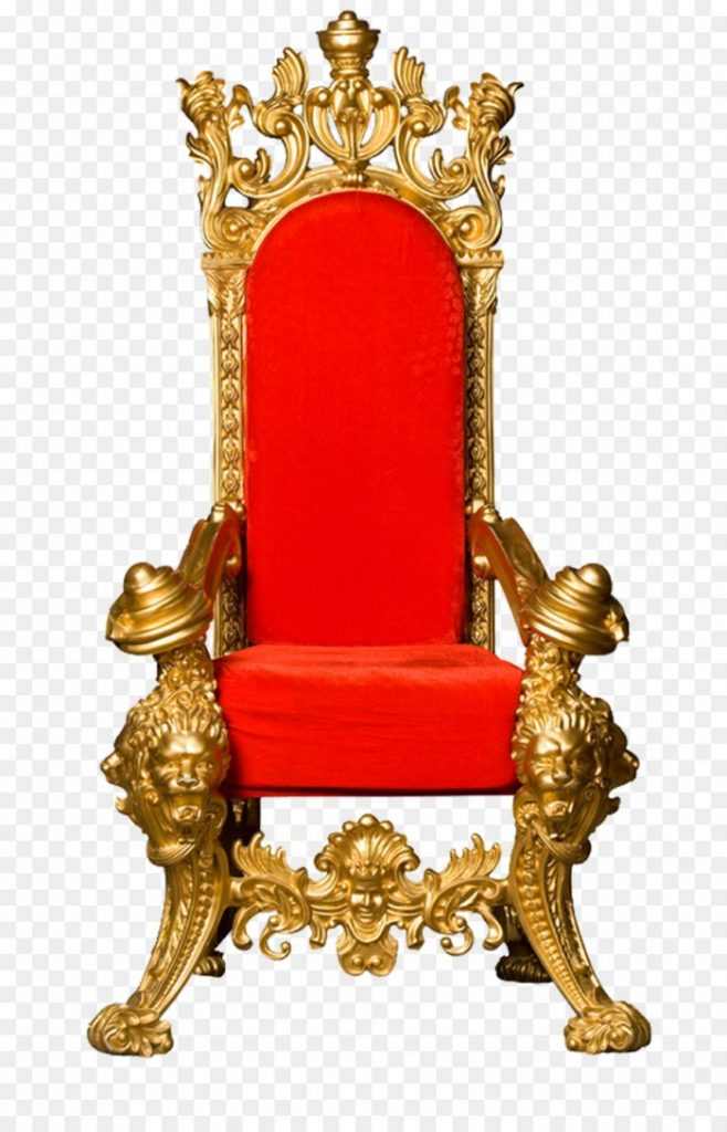 Throne King Chair Clip Art Red Back Gold Frame Kingdom King On A.