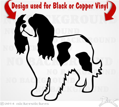 Custom Cavalier King Charles Spaniel Dog Decals & Stickers.