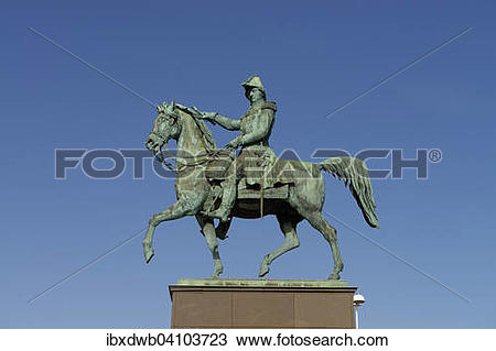 Stock Photo of Statue of King Charles XIV John of Sweden.
