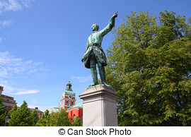 Stock Photo of Statue of Charles XIV John former king of Sweden.