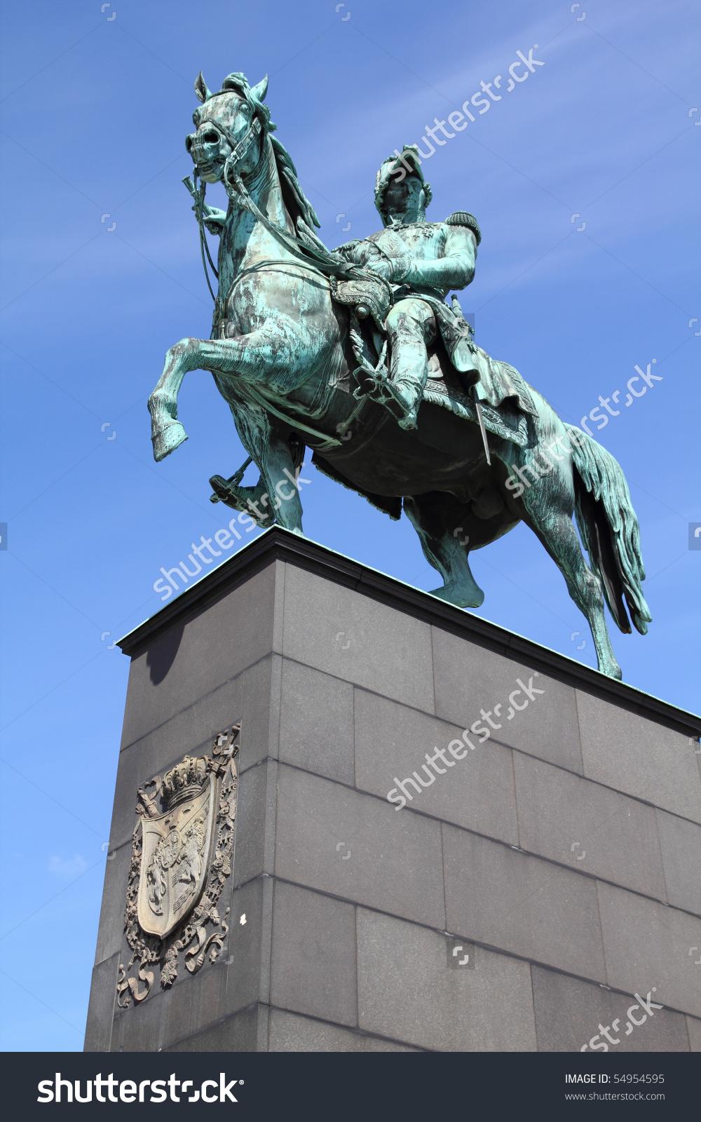 Stockholm, Sweden. Statue Of Charles Xiv John, King Of Sweden And.