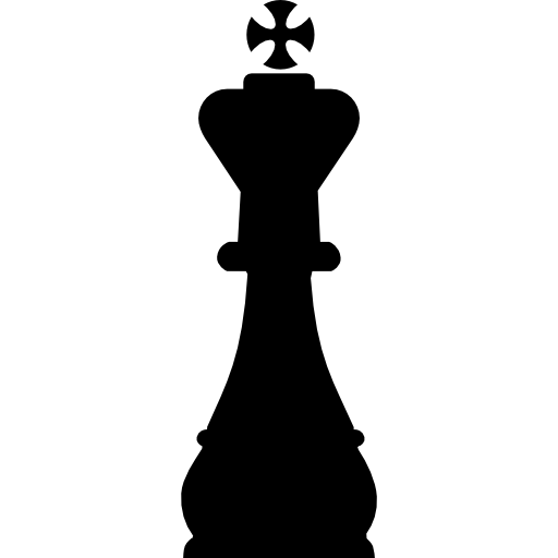 King chess piece shape Icons.