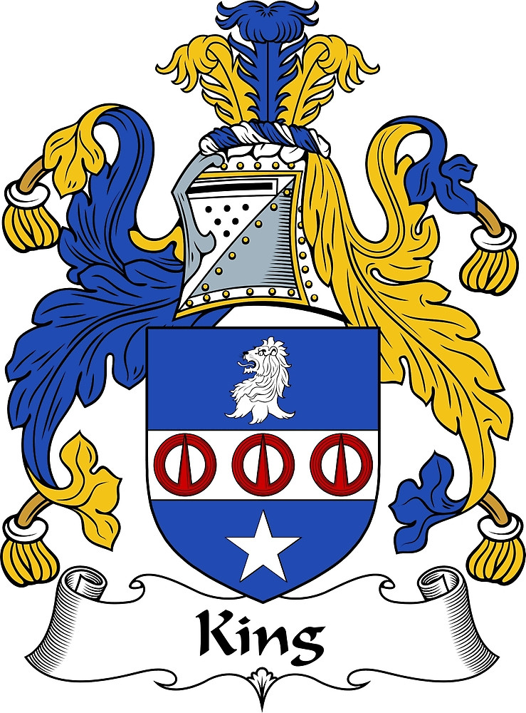 """King Coat of Arms / King Family Crest"""" by ScotlandForever."""