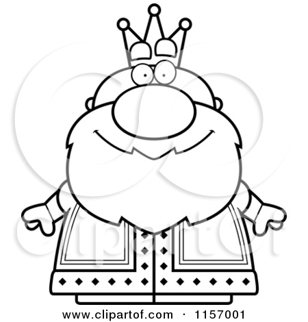 Fat King Clipart.