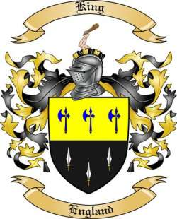 King Family Crest from England2 by The Tree Maker.