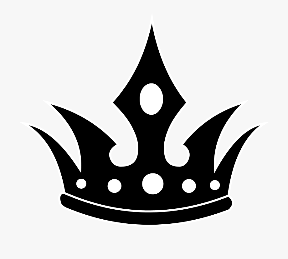 Crown Black And White Princess Crown Clipart.