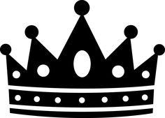 Free Crown Clipart Black White.