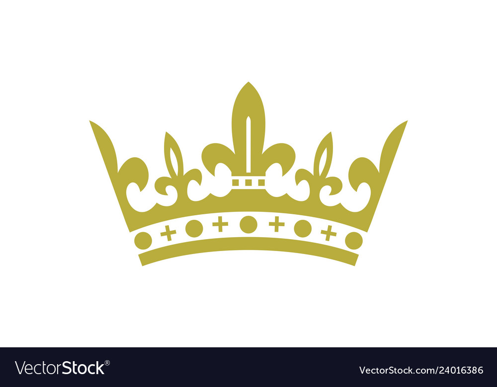 King crown logo icon.