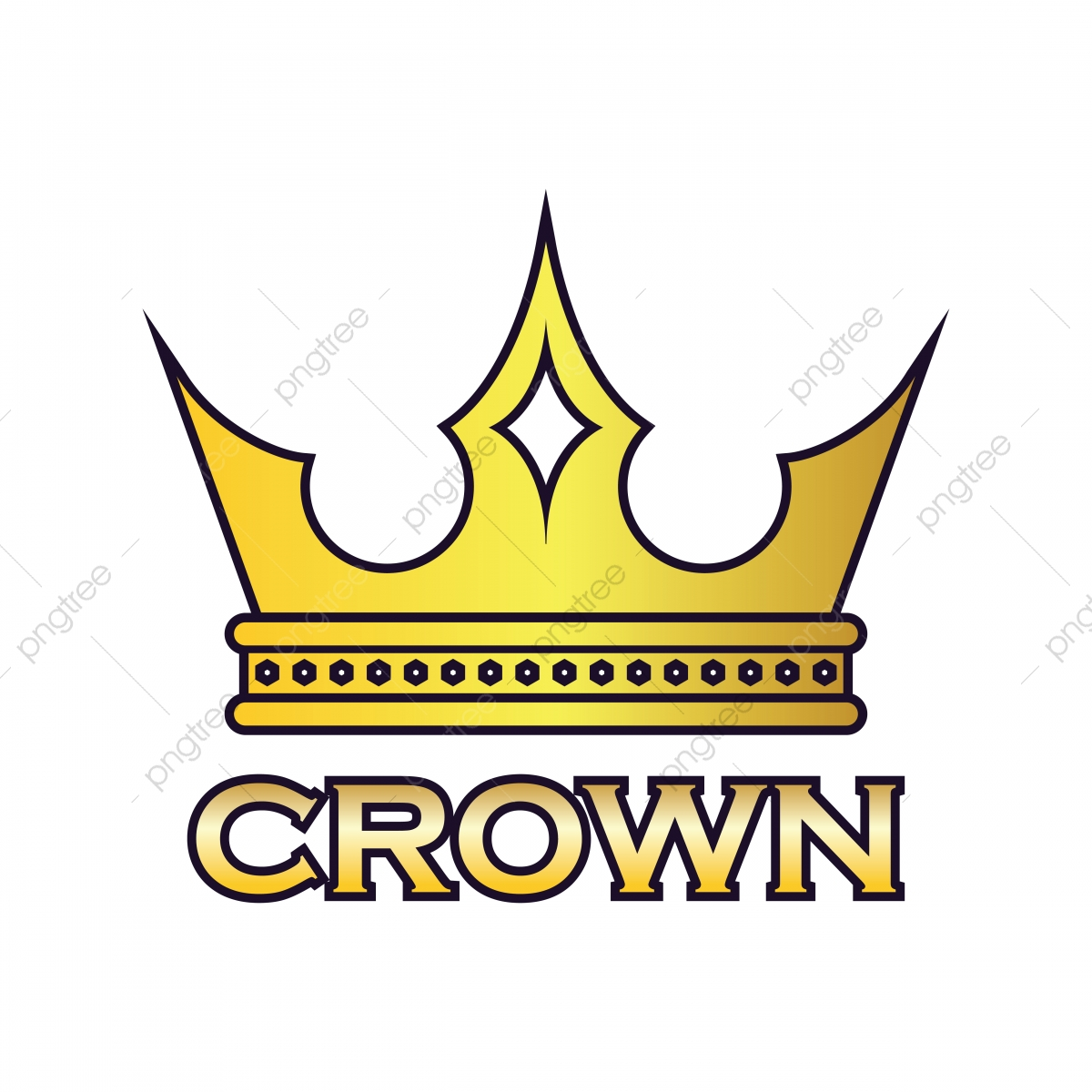 King Crown Logo Vector Illustration, Crown, King, Antique PNG and.
