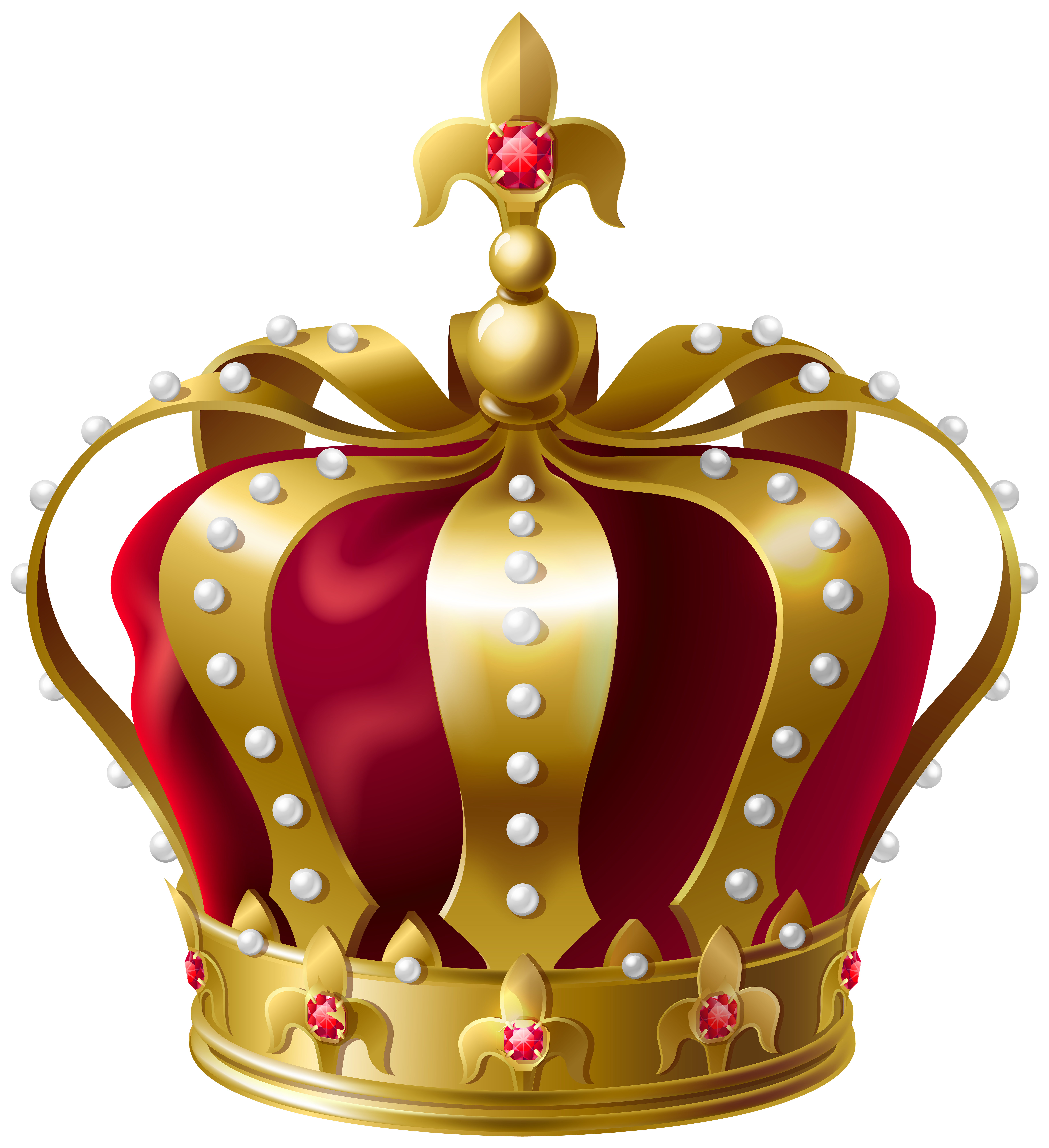 King Crown Transparent PNG Clip Art Image.