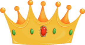 Golden Crown PNG Clipart Picture.