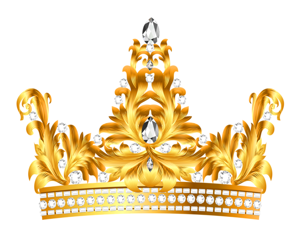 Gold and Diamonds Crown PNG Clipart.