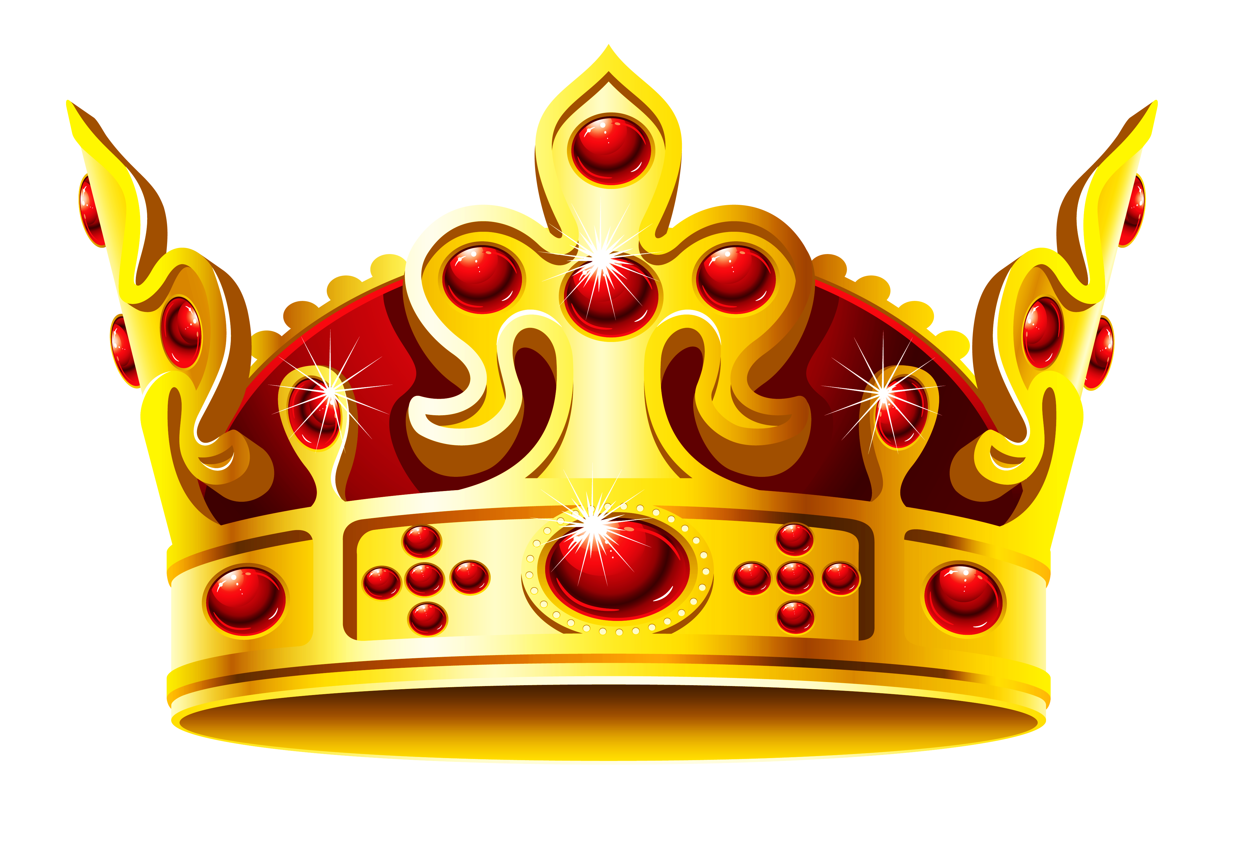 Gold and Red Crown PNG Clipart Picture.