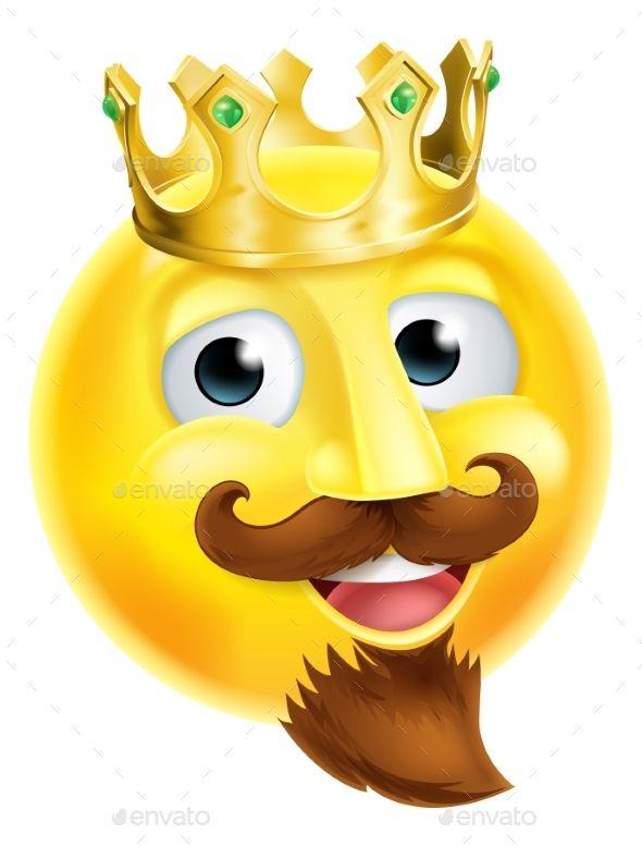 King Emoji Emoticon by Krisdog A cartoon king emoji emoticon.