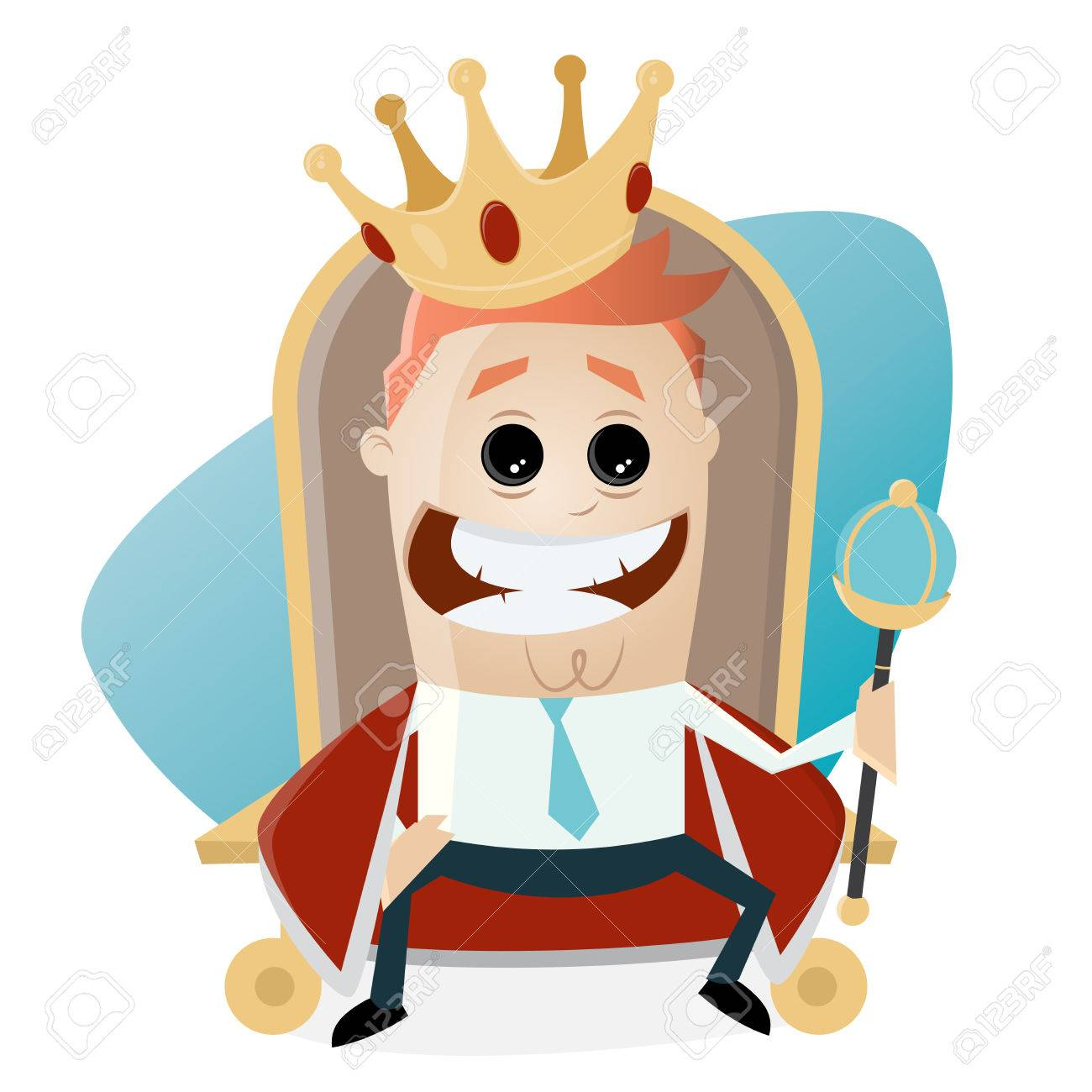 king on throne clipart.