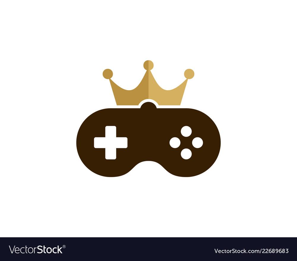 Game king logo icon design.