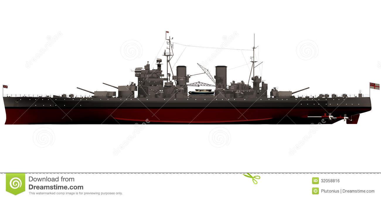 Wwii Battleships Clipart.