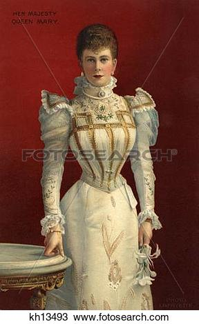 Stock Photo of 1890S Portrait Of Her Majesty Queen Mary Consort Of.