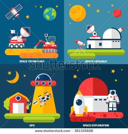 Observatory Silhouette Clipart.