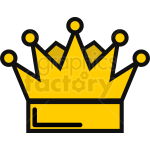 vector king crown icon clipart. Royalty.