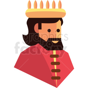 king game character vector icon clipart . Royalty.