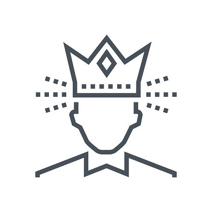 Crown, king icon Clipart Image.