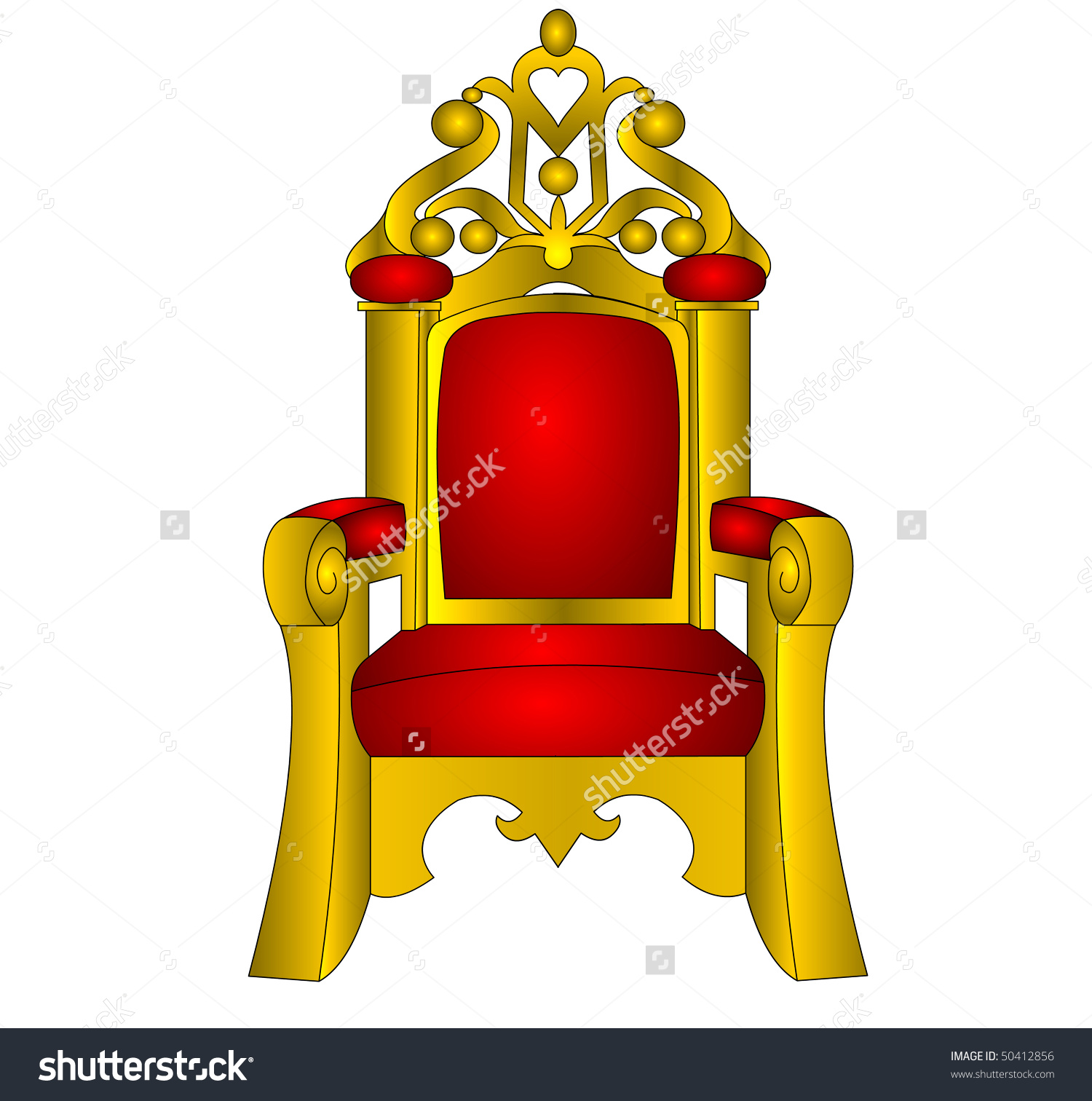 Throne Chair King Red Soft Insulated Stock Illustration 50412856.