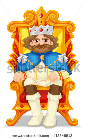 King Chair Stock Images, Royalty.