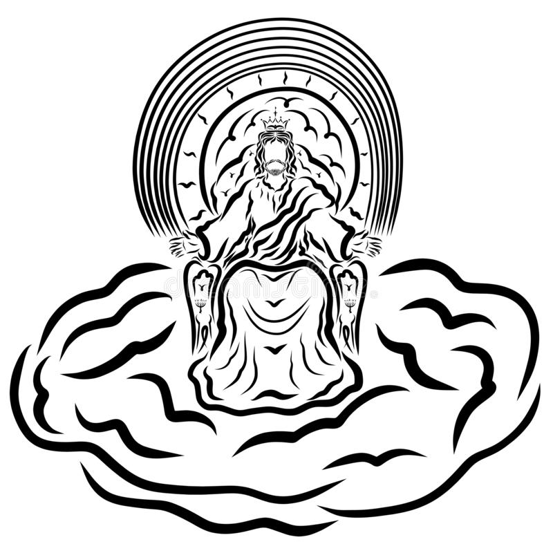 Jesus Throne Stock Illustrations.
