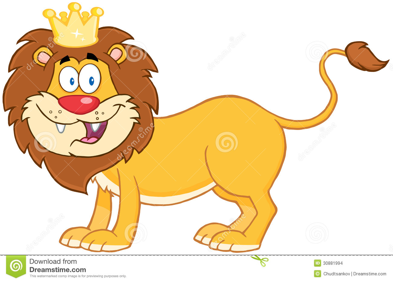 King of the jungle clipart.