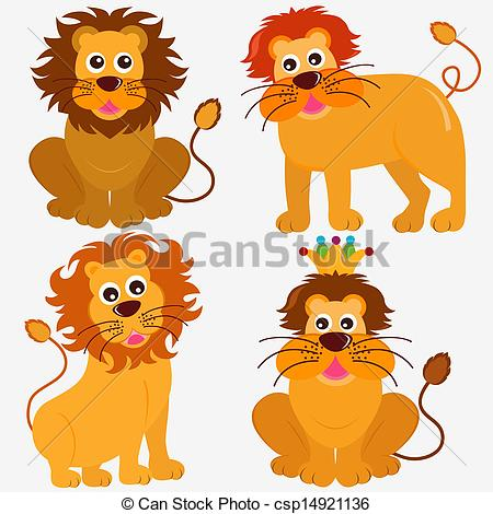 Vectors of Lion, King of the jungle.